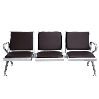 Waiting Chair 3-seat Airport Reception Room Hospital Clinic Bank Comfort Bench