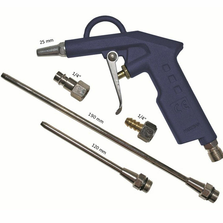 Druckluftpistole Set 6tlg. Druckluft Luftpistole lang Ausblaspistole Blaspistole
