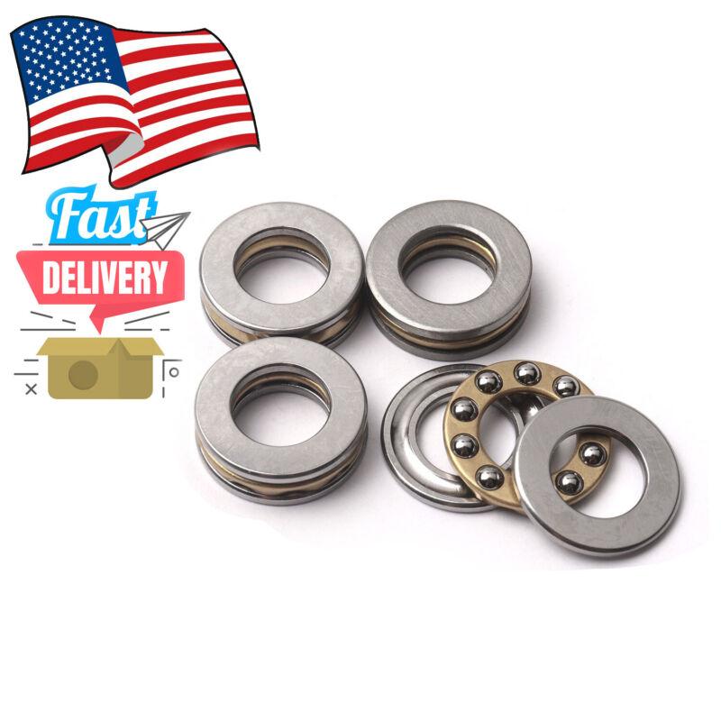 4Pcs/ set Miniature Thrust Bearing F8-16M 8X 16 X 5mm Axial Metal Ball in US