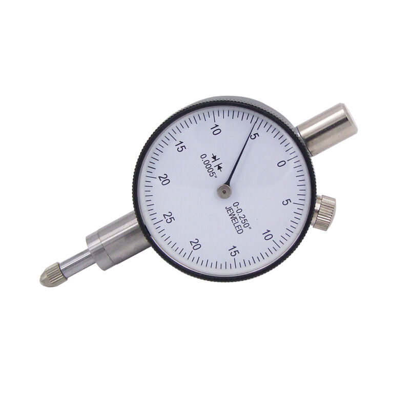 "HFS(R) 1/4"" x 0.0005"" Miniature Inch Dial Indicators with Lug Back & White Face"