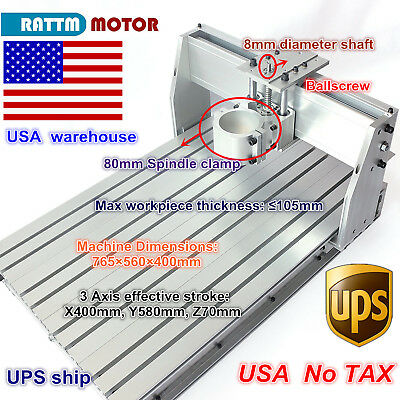 Diy Use 6040 Cnc Router Engraver Engraving Milling Machine Frame Kit Ball Screw