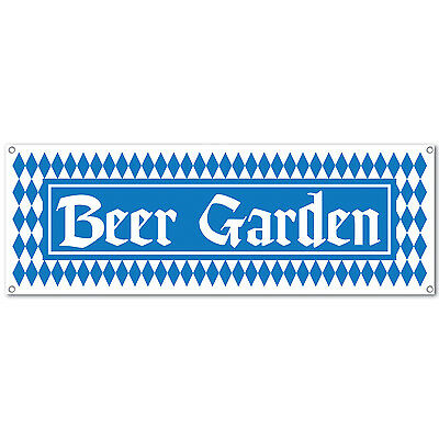 1 OKTOBERFEST Party Decoration BEER GARDEN Sign Banner 60