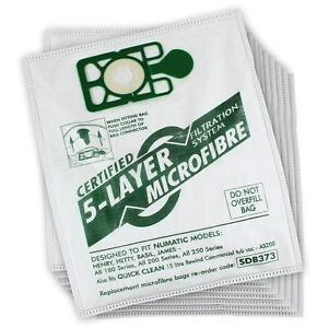 Numatic Henry Hoover Vacuum Cleaner Microfibre Dust Bags x 10