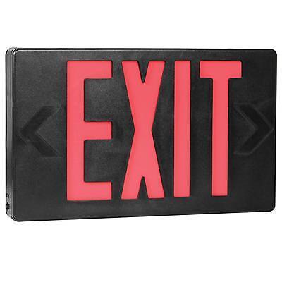 Red Black AC Only LED Universal Exit Sign Kamrock Lights KL-EXIT-RB-AC (Ac Only Exit Sign)
