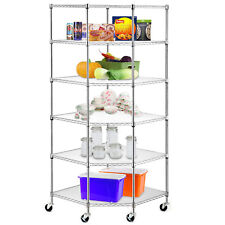 High Quality Wire Steel 6-Tier Corner Shelf Garage Storage Shelving Rack Durable