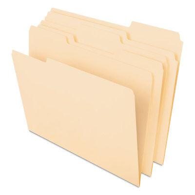 Pendaflex Cutless File Folders 13 Cut Top Tab Letter Manila 100box 48420