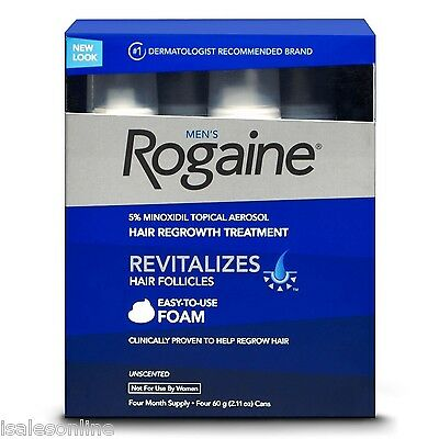 Men's ROGAINE Hair Regrowth Unscented Foam - 4 months supply