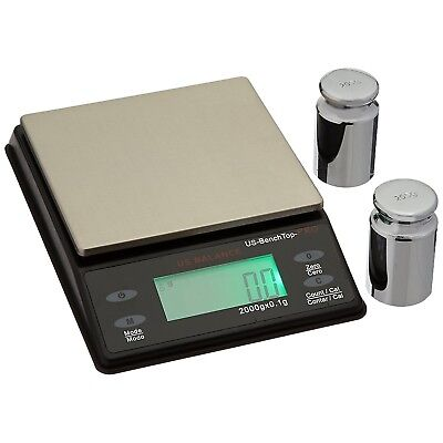 Us Balance Bench Top Pro Parts Counting Scale 2000g X 0.1g Calibration Weights