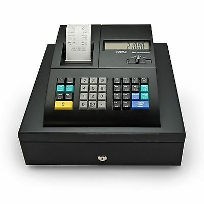 Royal 210DX B1 Electronic Cash Register w/Dual LCD Displays 1500 PLUs/ID System