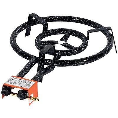 Garcima Paella Dual Ring Butane/Propane Gas Burner, Black, 40 cm