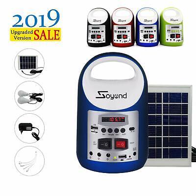 Blue  Portable Solar Generator Solar Panel Power Inverter Electric Generator kit
