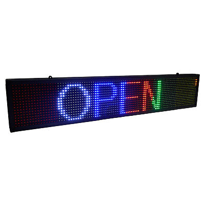 7.5x39 Led Self-design Programmable Scrolling Message Open Sign Display Board