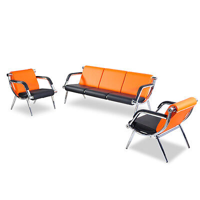 Office Chair Waiting Room Set Airport Reception Pu Leather Guest Sofa Modern