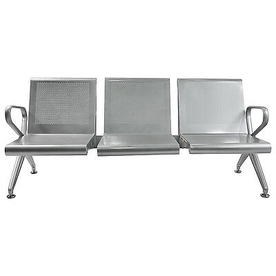 3 Seat Salon Office Waiting Room Chairs Airport Reception Guest Bench Wpainted