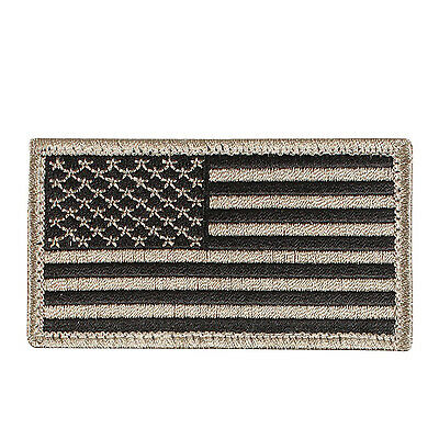 tactical usa american us flag patch with hook backing khaki rothco 17782