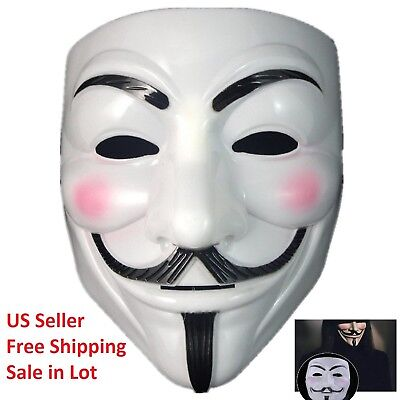 Lot V for Vendetta Mask Unisex Adult Halloween Costume Fawkes Anonymous - Halloween Mask Vendetta