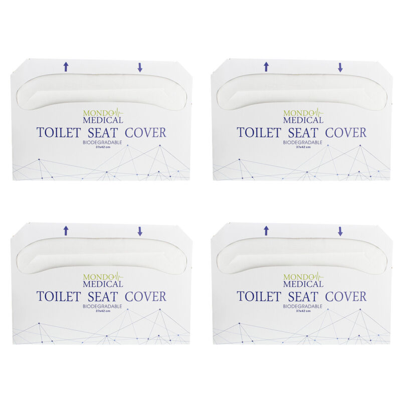 MonMed Toilet Seat Covers Disposable Seat Covers - 1/2 Fold 14x16 Inch - 1000pc