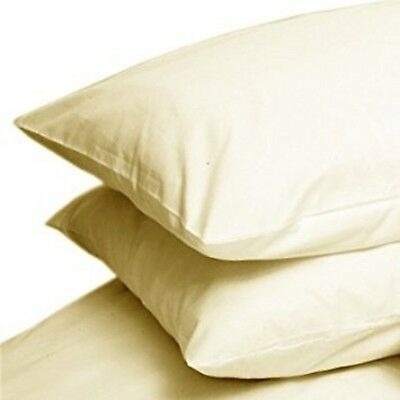 Cream Lex/'s Linens Percale Extra Large Pillow Case Pair 22x31