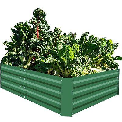 Big Metal Raised Garden Beds Large Planter Box Steel Gardening Kit Outdoor Herb ()