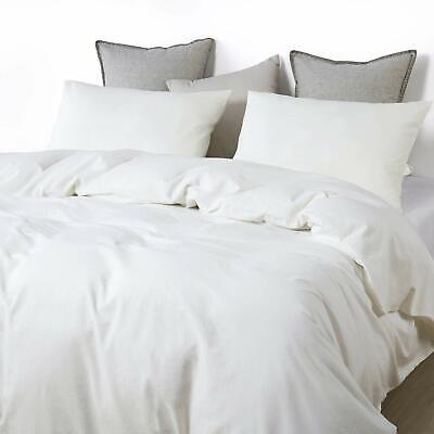 Plain White Doona Duvet Quilt Cover Twin/Queen Comforter Set Boho Hippie Bedding ()