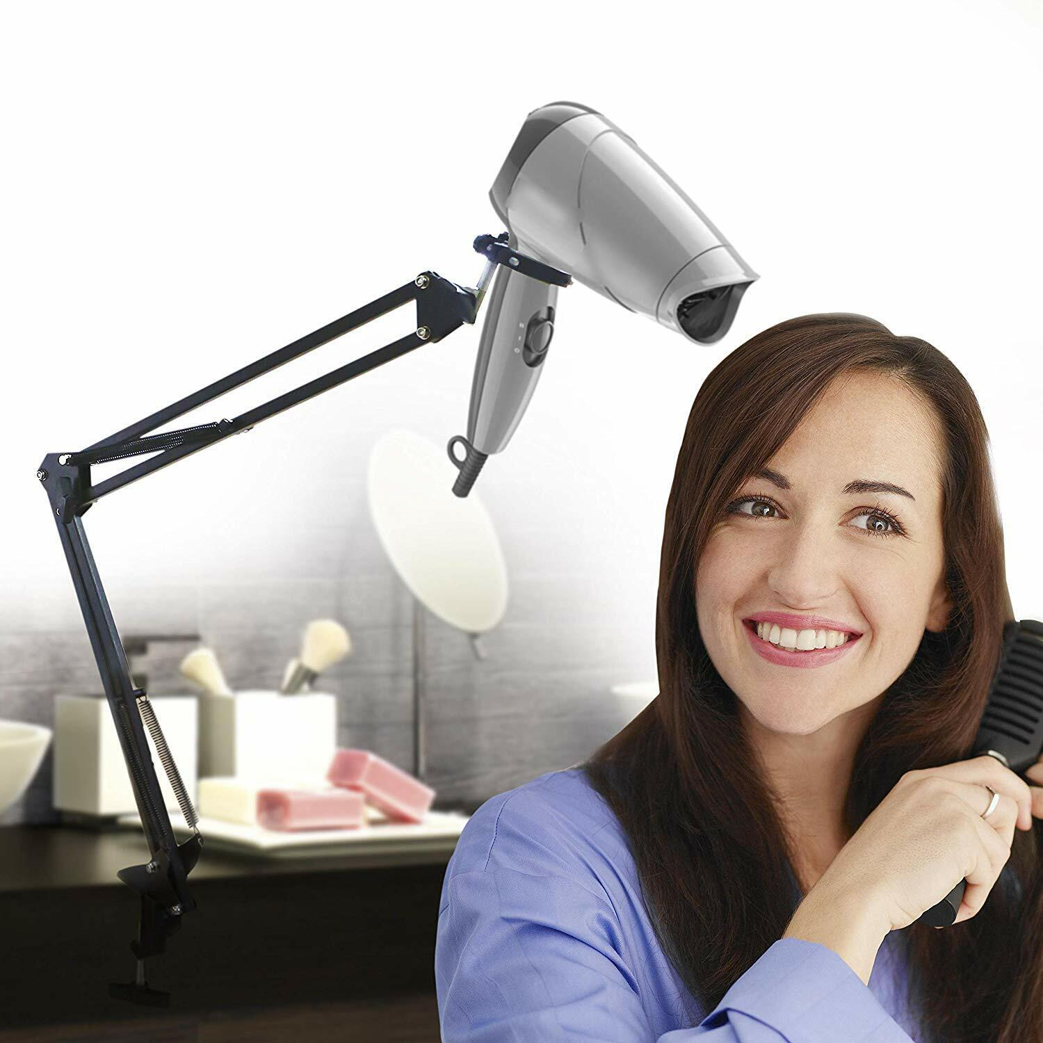 Hair Dryer Holder, Hands Free Dryer Stand for Hair Styling and Storage Hair Care & Styling