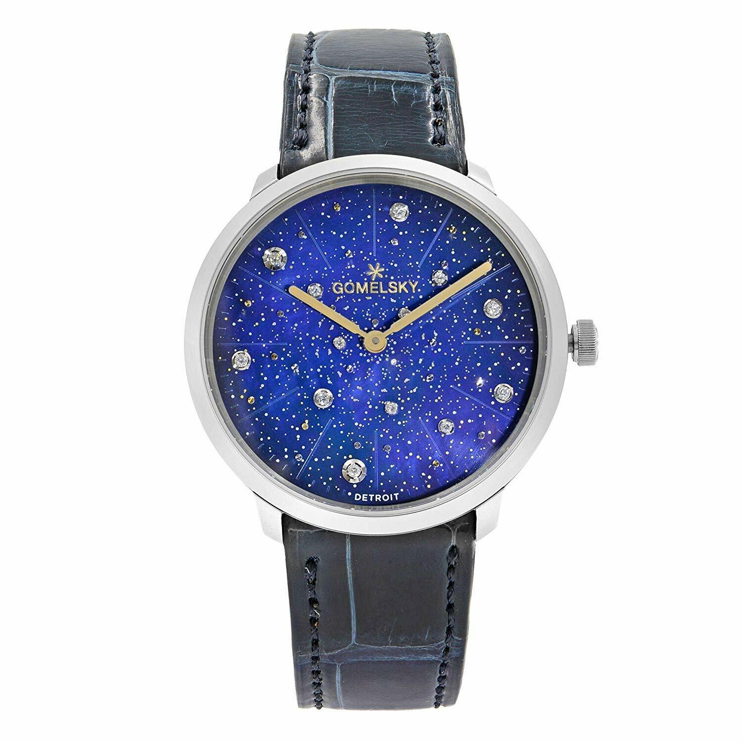 Gomelsky Audry Steel Diamond Blue Dial Quartz Women's Watch G0120124579 Shinola