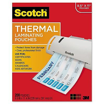 X200 Sheets Of Scotch Thermal Laminating Pouches   Letter