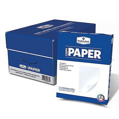 5000 Sheets Ten 10 Ream Case Copy Paper 20lb, 92 Bright, 8-1/2 x 11