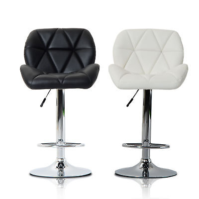 Diamond Style Swivel Bar Stool Gas Lift Breakfast Kitchen Chrome PU