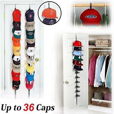 Cap Rack Closet Hanger System Storage 36 Caps Organizer Door