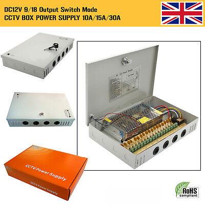 Power-box 18-port (9/18 Port 12V 10/15/30 Amp Lockable DC CCTV Camera Power Supply Distribution Box)