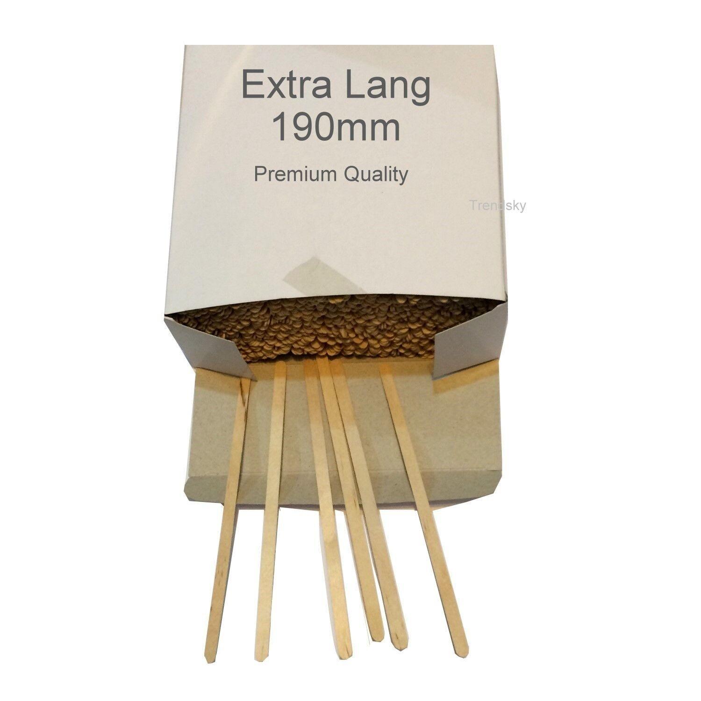 Extra Lang ! Holz Rührer 190mm Rührstäbchen 19cm Kaffeerührer Teerührer Stab