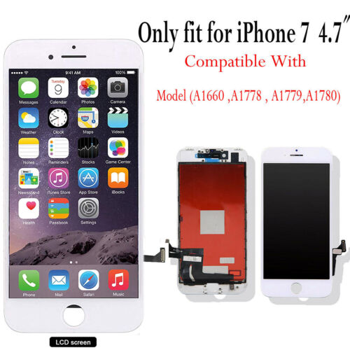 For iPhone 7 LCD Display Touch Screen Digitizer Replacement Display - White AAA+