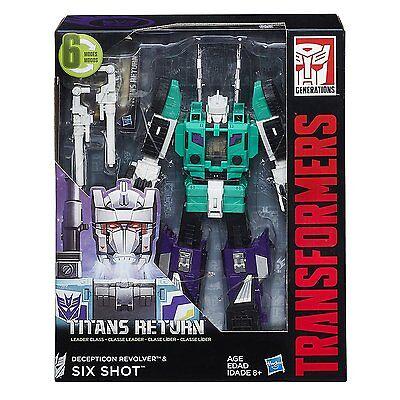 Transformers Generations Titans Return Leader SIX SHOT G1 NEW IN STOCK USA!!!!!!