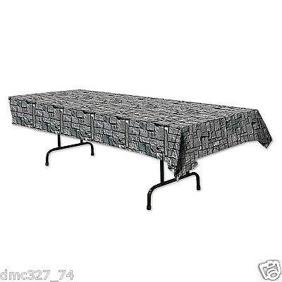 HALLOWEEN Medieval Party Decoration Dungeon STONE WALL Print Table - Home Garden Halloween Decorations