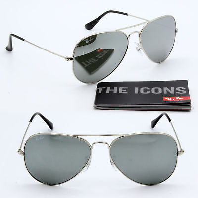 62mm ray-ban aviator new sunglasses for men and women silver mirror lens (Lenses For Ray Ban Aviators)