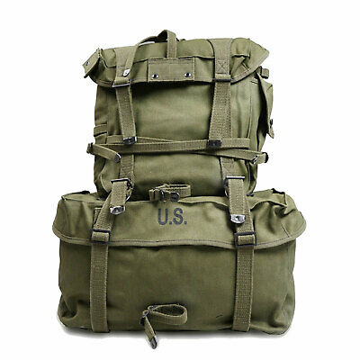 Vietnam War US Army M1945 Backpack Haversack Knapsack Upper Pack Cargo Pack Bag