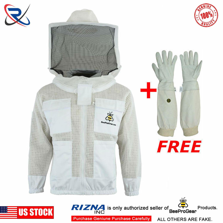 M Ventilated 3 Layer Bee Beekeeper Beekeeping jacket round veil