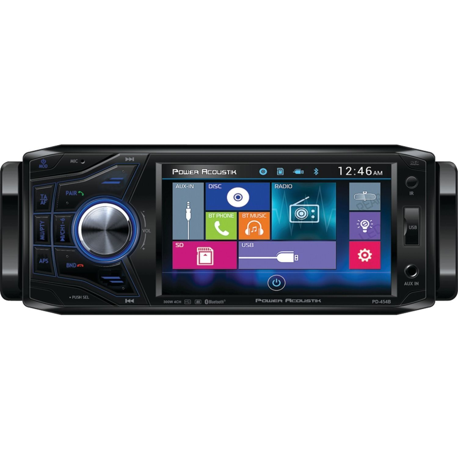 Power Acoustik PD454B 4.5-Inch In-Dash Touchscreen Media Receiver with  Bluetooth | eBay