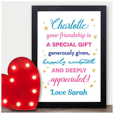 Personalised Friendship Gifts for Best Friends BFF Work Colleagues