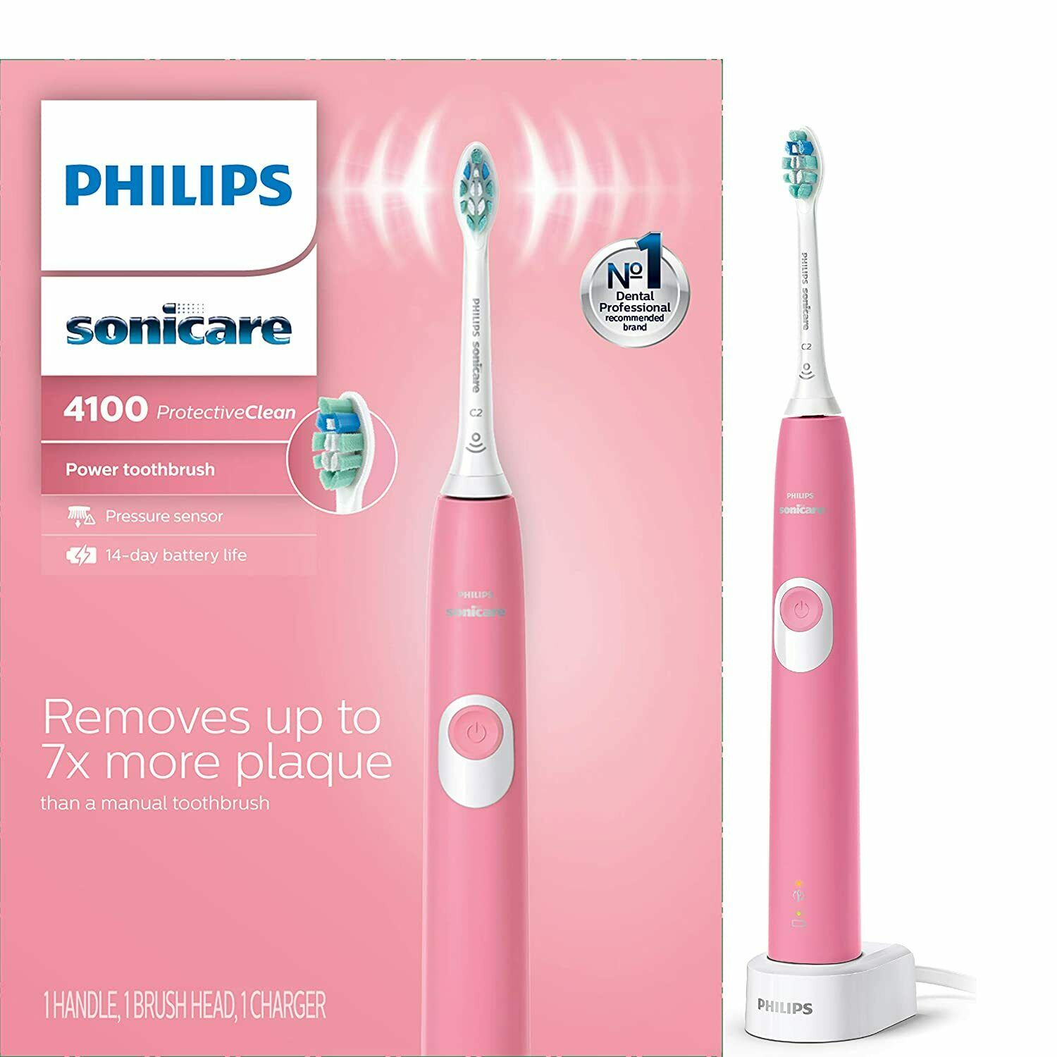 New Philips Sonicare 4100 Protective Clean Pink Edition Toot