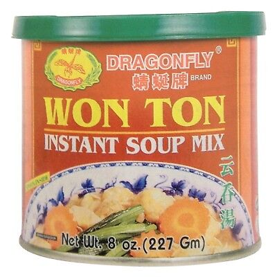 Dragonfly Won Ton Instant Soup Mix, 8 Ounce