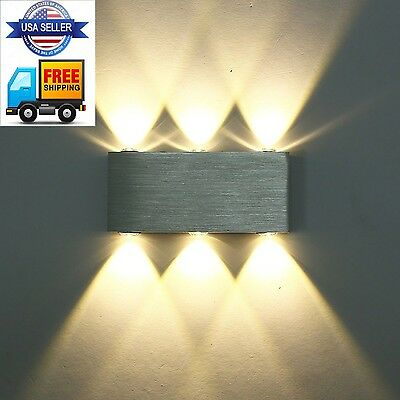 Modern Warm White 18W High Power 6 LED Up Down Wall Lamp Spot Light Sconce