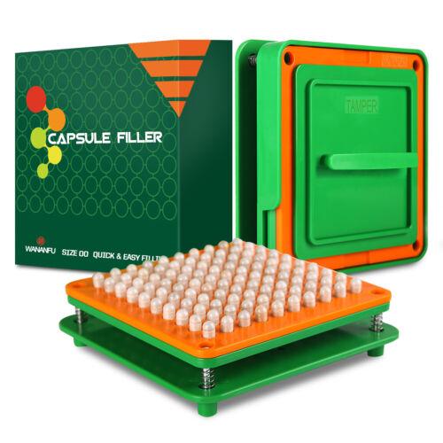 Wananfu Capsule Filler Filling Machine 00 for Empty Capsules Size 00