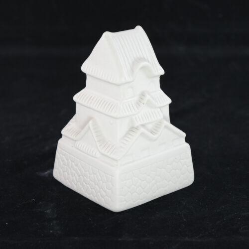 "Mini Square Ceramic Pagoda for Bonsai Tree and Zen Garden - 2.5""x 2.5""x 4"""