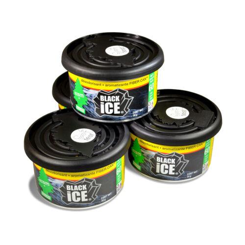 Car Freshner UFC-17855-24 Little Trees Black Ice Fiber Can A