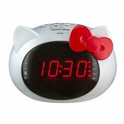 iHome Hello Kitty Bluetooth Dual Alarm Clock Radio Speaker