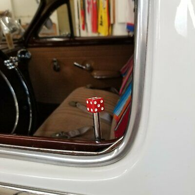 Classic Red Dice 4 Piece Door Lock Plunger Kit street deluxe ford fordor impala Deluxe Plunger Lock