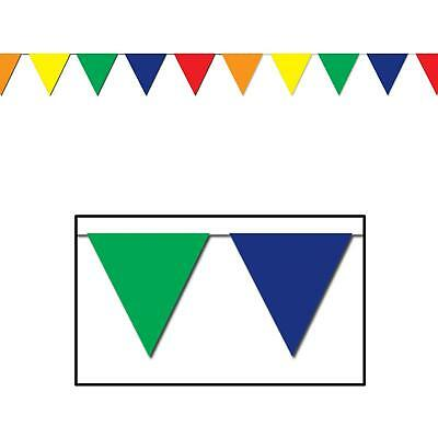 Outdoor Pennant Banner (30 ft heavy duty Outdoor All Weather multi color Pennant Banner flags)