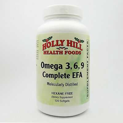 120 Hexane Free Softgel - Holly Hill Health Foods, Omega 3-6-9, Hexane Free, 120 Softgels